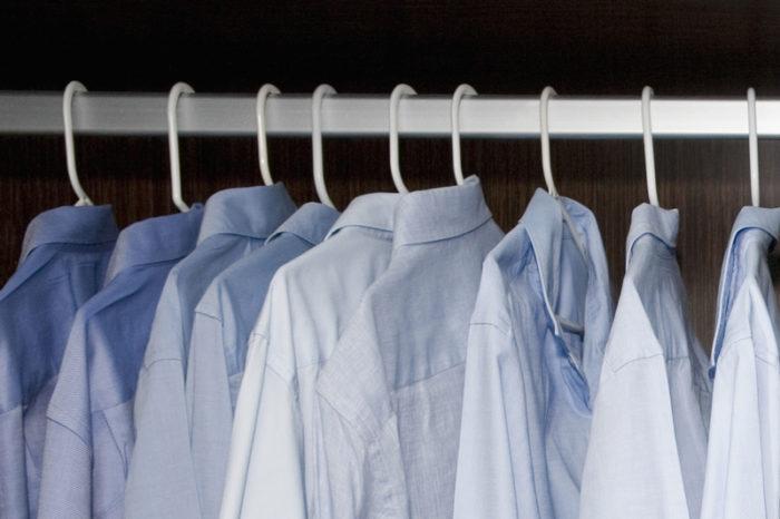 So sieht ein aufgeräumter Kleiderschrank aus.